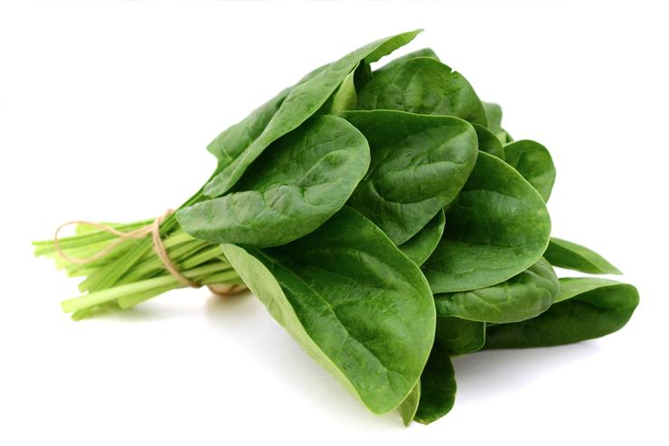 Alimentos alcalinos: Espinacas