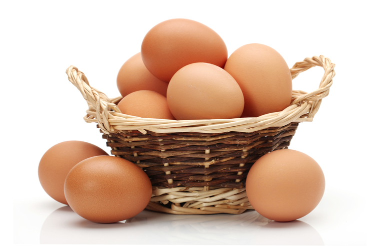 Alimentos alcalinos: huevos
